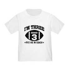 Three Year Old Football T