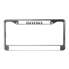 Nadia Carved Metal License Plate Frame
