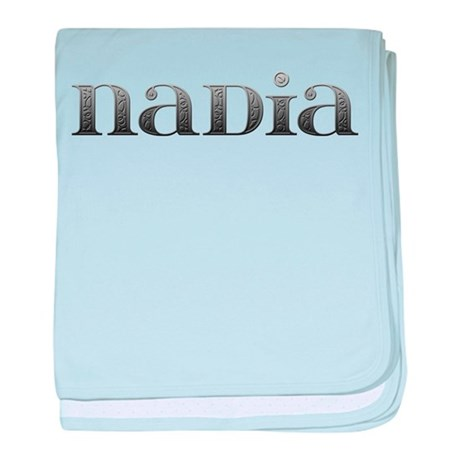 Nadia Carved Metal baby blanket