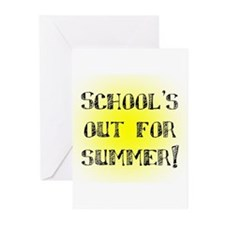School's Out for Summer Greeting Cards (Package of