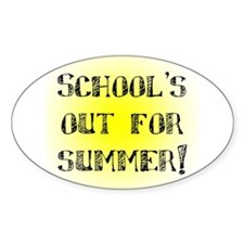 School's Out for Summer Oval Decal