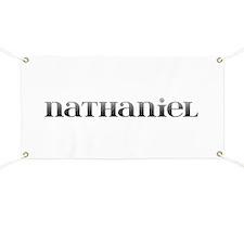 Nathaniel Carved Metal Banner