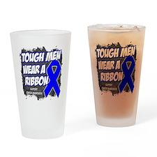 Colon Cancer Tough Men Wear Drinking Glass