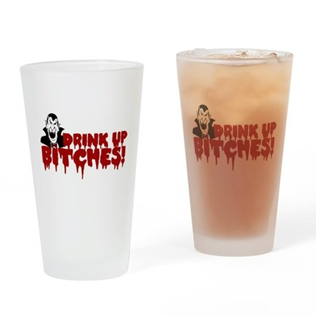 Dracula's Halloween Party Drinking Glass