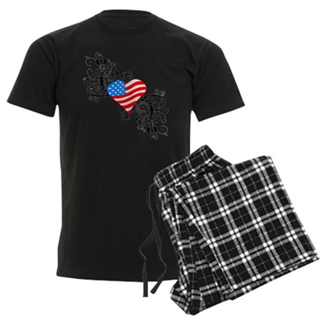 4th Of July / Independence Da Men's Dark Pajamas