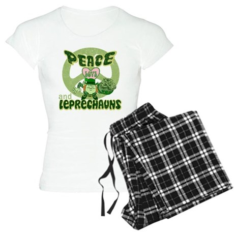 PEACE LOVE and LEPRECHAUNS Women's Light Pajamas