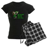 Tell Your Mom To Slow Down Women's Dark Pajamas