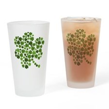Shamrocks in a Shamrock Drinking Glass