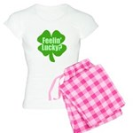 Feelin Lucky? Funny St. Patri Women's Light Pajama