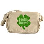 Feelin Lucky? Funny St. Patri Messenger Bag