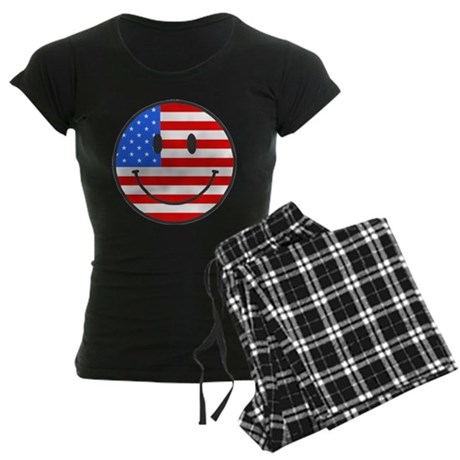 4th Of July Happy Smile Women's Dark Pajamas