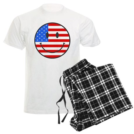 4th Of July Happy Smile Men's Light Pajamas