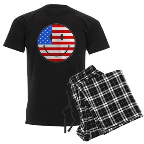4th Of July Happy Smile Men's Dark Pajamas