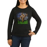 Acoustic Guitar Tree (Color) Women's Long Tee