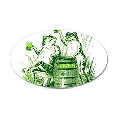 Drunk Frogs 22x14 Oval Wall Peel