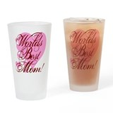 Mother's Day Worlds Best Mom Drinking Glass