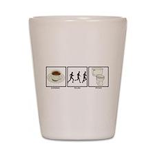 COFFEE - RUN - POO Shot Glass