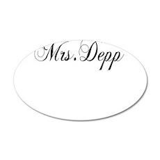 Mrs. Depp 38.5 x 24.5 Oval Wall Peel
