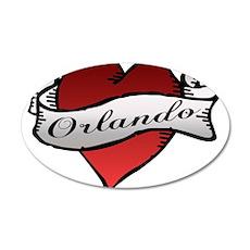 Orlando Tattoo Heart 22x14 Oval Wall Peel