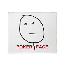 Poker Face Throw Blanket