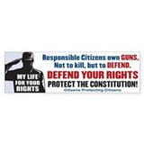 Defend Your Rights Bumper Bumper Sticker