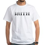 Ruth Carved Metal White T-Shirt