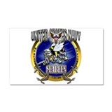 US Navy Seabees Anchors Car Magnet 20 x 12