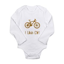 I Like Dirt Bike Long Sleeve Infant Bodysuit
