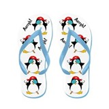 Pirate Penguin Flip Flops