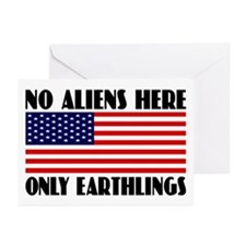 NO ALIENS Greeting Cards (Pk of 10)