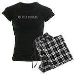 Sullivan Carved Metal Women's Dark Pajamas