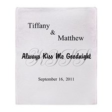 Personalize Always Kiss Me #2 Throw Blanket