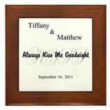 Personalize Always Kiss Me #2 Framed Tile