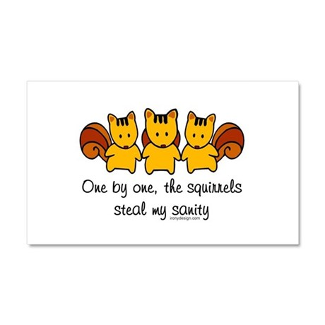 One by one, the squirrels... Car Magnet 20 x 12