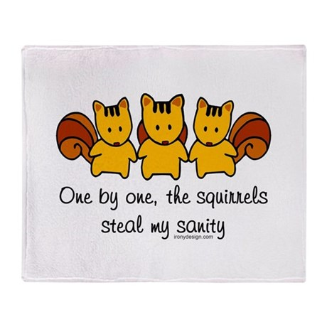 One by one, the squirrels... Stadium Blanket
