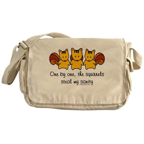 One by one, the squirrels... Messenger Bag