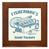 Fisherman's Group Therapy Framed Tile