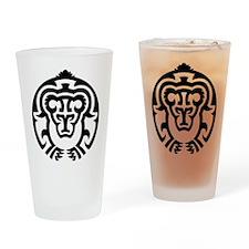 Tribal Bear Designs Drinking Glass