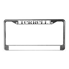Terrell Carved Metal License Plate Frame