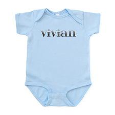 Vivian Carved Metal Infant Bodysuit
