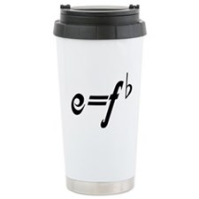 Funny Music E = F flat Ceramic Travel Mug