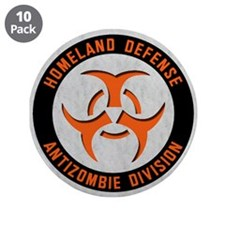 """Anti Zombie Division 3.5"""" Button (10 pack)"""