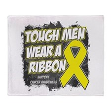 Bladder Cancer Tough Men Throw Blanket