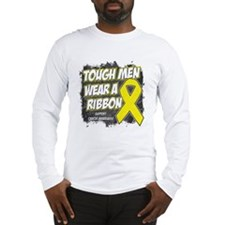 Bladder Cancer Tough Men Long Sleeve T-Shirt