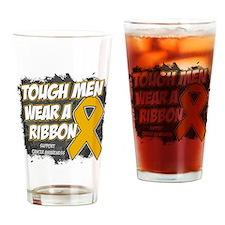 Appendix Cancer Tough Men Drinking Glass