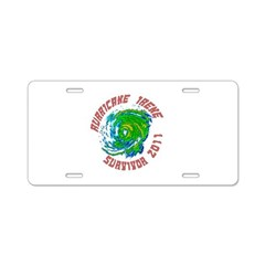 Hurricane Irene Survivor Aluminum License Plate