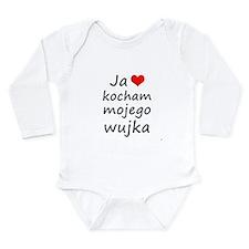 I love MY Uncle (Polish) Long Sleeve Infant Bodysu