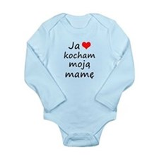 I love MY Mom (Polish) Long Sleeve Infant Bodysuit
