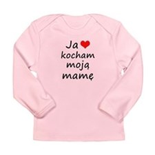 I love MY Mom (Polish) Long Sleeve Infant T-Shirt