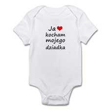 I love MY Grandpa (Polish) Infant Bodysuit